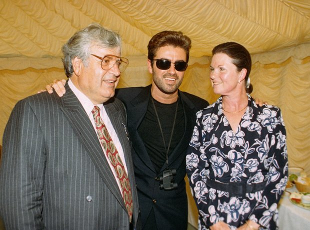 George Michael with his parents