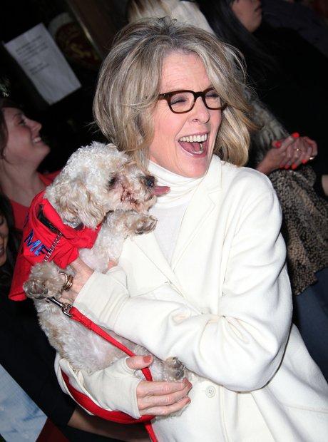 Diane Keaton and Rescue Dog
