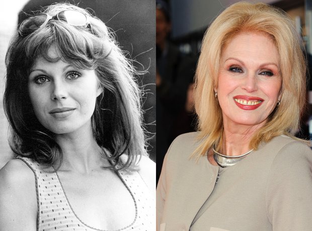 Joanna Lumley now and then