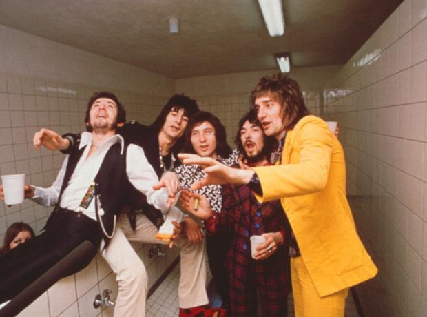 Rod Stewart and The Faces in 1971
