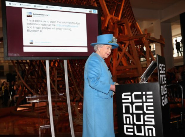The Queen at the Science Museum