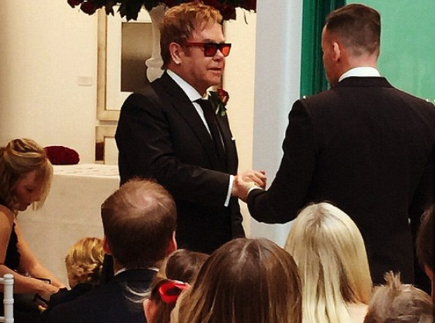 Elton John and David Furnish Wedding 2014