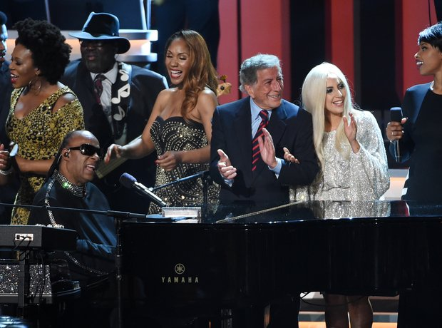 Tony Bennett and Lady Gaga were among the performe