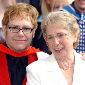 Elton John with mum Sheila Farebrother in 2002