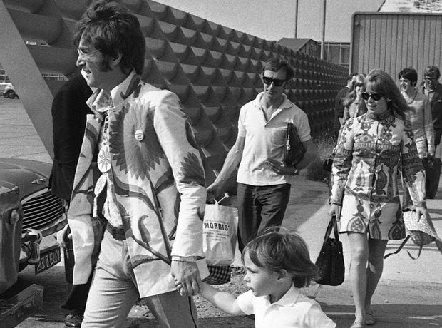 John Lennon with son Julian
