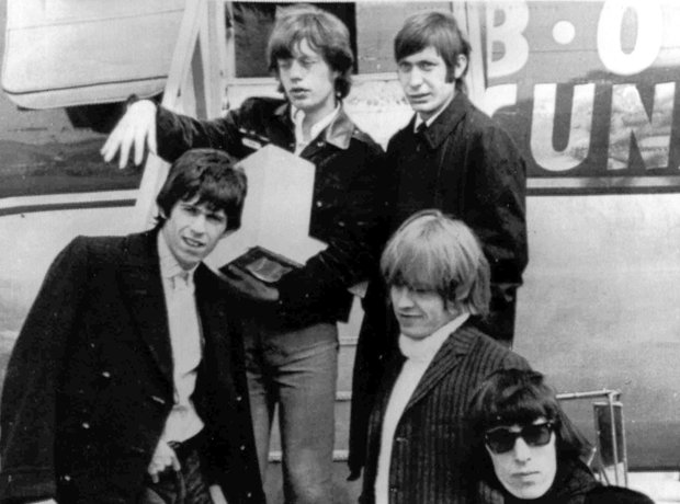 rock stars On Planes The Rolling Stones