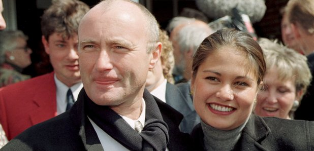 Phil Collins with second wife Orianne Cevey