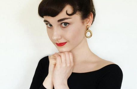 Audrey Hepburn lookalike teen