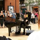 Gary Barlow performs in Bristol Cabot Circus