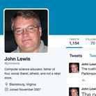 John Lewis the man Twitter