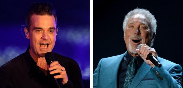 Robbie Williams and Tom Jones